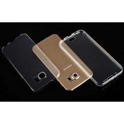 """Skaidrus silikoninis dėklas Samsung Galaxy S6 Telefonui """"Fitty Double"""""""
