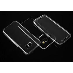 """Skaidrus silikoninis dėklas Samsung Galaxy S7 Edge Telefonui """"Fitty Double"""""""