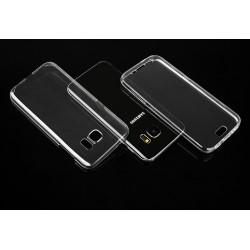"""Skaidrus silikoninis dėklas Samsung Galaxy S7 G930 Telefonui """"Fitty Double"""" Skirtas apsaugoti telefono nugarėle ir ekraną."""