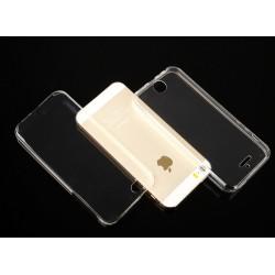 """Skaidrus silikoninis dėklas Apple iPhone 5/5s/SE Telefonui """"Fitty Double"""" Skirtas apsaugoti telefono nugarėle ir ekraną."""