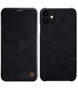 """Odinis juodas atverčiamas dėklas Apple iPhone 11 telefonui """"Nillkin Qin"""""""