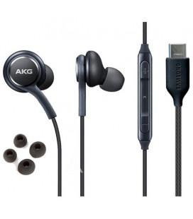 "Originalios juodos Samsung stereo HF AKG ausinės Type C ""GH59-15106A"""