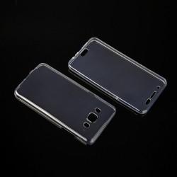 """Skaidrus silikoninis dėklas Samsung Galaxy J5 2016 J510 Telefonui """"Fitty Double"""" Skirtas apsaugoti telefono nugarėle ir ekraną."""