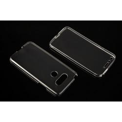 """Skaidrus silikoninis dėklas LG G5 H850 Telefonui """"Fitty Double"""" Skirtas apsaugoti telefono nugarėle ir ekraną."""