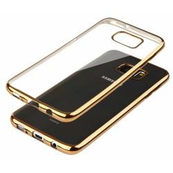"""Auksinės spalvos silikoninis dėklas Samsung Galaxy S7 Edge Telefonui """"Glossy"""""""
