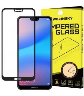 """Juodas apsauginis grūdintas stiklas Huawei P20 Lite telefonui """"Wozinsky Full Glue"""""""