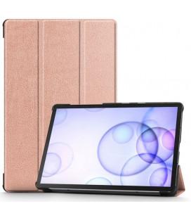 """Rausvai auksinės spalvos atverčiamas dėklas Samsung Galaxy Tab S6 10.5 T860 / T865 planšetei """"Tech-Protect Smartcase"""""""