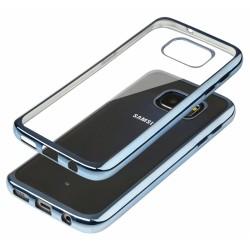 """Mėlynas silikoninis dėklas Samsung Galaxy S7 G930 Telefonui """"Glossy"""""""