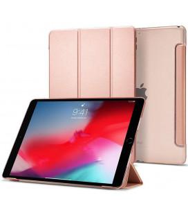 """Rausvai auksinės spalvos atverčiamas dėklas Apple iPad Air 3 2019 planšetei """"Spigen Smart Fold"""""""