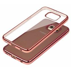 """Rausvai auksinės spalvos silikoninis dėklas Samsung Galaxy S6 G920 Telefonui """"Glossy"""""""
