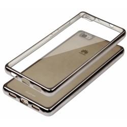 """Juodas silikoninis dėklas Huawei P8 Lite Telefonui """"Glossy"""""""