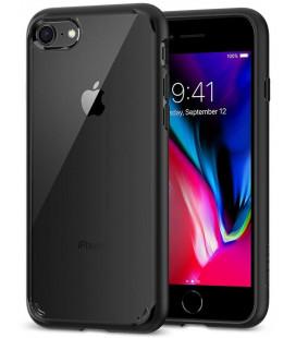 "Juodas dėklas Apple iPhone 7/8 telefonui ""Spigen Ultra Hybrid 2"""