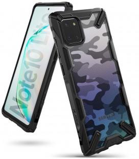 """Juodas (Camo) dėklas Samsung Galaxy Note 10 Lite telefonui """"Ringke Fusion X"""""""