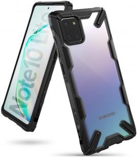 """Juodas dėklas Samsung Galaxy Note 10 Lite telefonui """"Ringke Fusion X"""""""