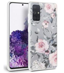 """Pilkas (Rožės) dėklas Samsung Galaxy A51 telefonui """"Tech-protect Floral"""""""
