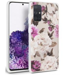 "Gelsvas (Gėlės) dėklas Samsung Galaxy A51 telefonui ""Tech-protect Floral"""