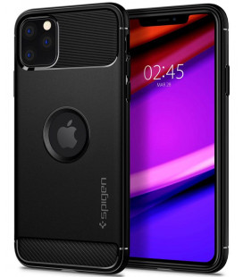 "Juodas dėklas Apple iPhone 11 Pro Max telefonui ""Spigen Rugged Armor"""