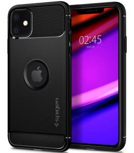 "Juodas dėklas Apple iPhone 11 telefonui ""Spigen Rugged Armor"""