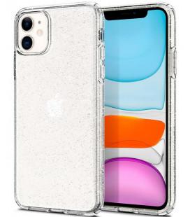 """Skaidrus dėklas su blizgučiais Apple iPhone 11 telefonui """"Spigen Liquid Crystal Glitter"""""""