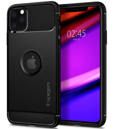 "Juodas dėklas Apple iPhone 11 Pro telefonui ""Spigen Rugged Armor"""