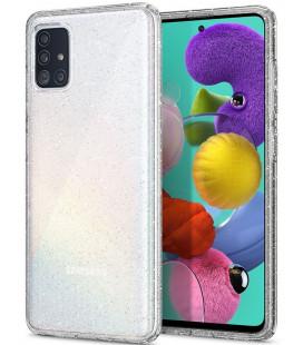 "Skaidrus dėklas su blizgučiais Samsung Galaxy A71 telefonui ""Spigen Liquid Crystal Glitter"""