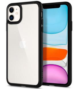 "Matinis juodas dėklas Apple iPhone 11 telefonui ""Spigen Ultra Hybrid"""