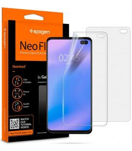 "Apsauginės ekrano plėvelės Samsung Galaxy S10 Plus telefonui ""Spigen Neo Flex HD"""