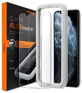 "Apsauginiai grūdinti stiklai Apple iPhone XR / 11 telefonui ""Spigen AlignMaster Glas tR"""