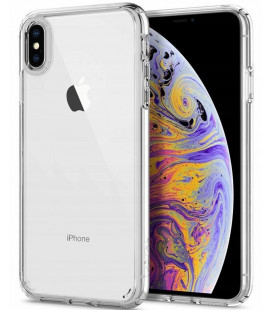 "Skaidrus dėklas Apple iPhone X/XS telefonui ""Spigen Ultra Hybrid"""