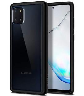 "Matinis juodas dėklas Samsung Galaxy Note 10 Lite telefonui ""Spigen Ultra Hybrid"""