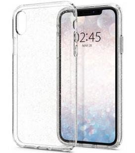 "Skaidrus dėklas su blizgučiais Apple iPhone XR telefonui ""Spigen Liquid Crystal Glitter"""