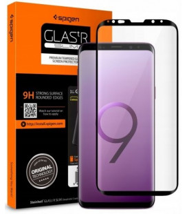 "Apsauginis grūdintas stiklas Samsung Galaxy S9 telefonui ""Spigen Glas.TR Slim"""