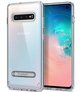 "Skaidrus dėklas Samsung Galaxy S10 telefonui ""Spigen Ultra Hybrid S"""
