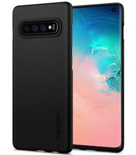 "Juodas dėklas Samsung Galaxy S10 telefonui ""Spigen Thin Fit"""