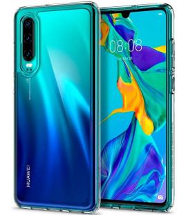 """Skaidrus dėklas Huawei P30 telefonui """"Spigen Ultra Hybrid"""""""