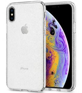 "Skaidrus dėklas su blizgučiais Apple iPhone X / XS telefonui ""Spigen Liquid Crystal Glitter"""