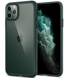 "Žalias dėklas Apple iPhone 11 Pro telefonui ""Spigen Ultra Hybrid"""