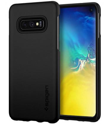 "Juodas dėklas Samsung Galaxy S10E telefonui ""Spigen Thin Fit"""