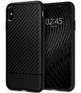 "Juodas dėklas Apple iPhone X / XS telefonui ""Spigen Core Armor"""