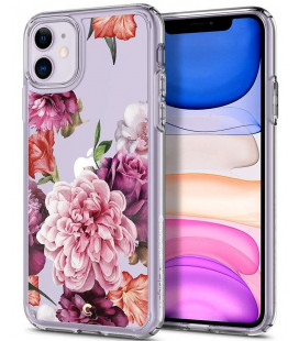 "Skaidrus dėklas Apple iPhone 11 telefonui ""Spigen Ciel Rose Floral"""