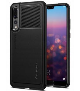 """Juodas dėklas Huawei P20 Pro telefonui """"Spigen Marked Armor"""""""