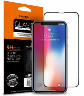"Apsauginis grūdintas stiklas Apple iPhone XR / 11 telefonui ""Spigen Glas.TR Slim"""