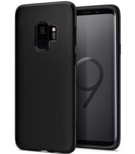 "Juodas matinis dėklas Samsung Galaxy S9 telefonui ""Spigen Liquid Crystal"""