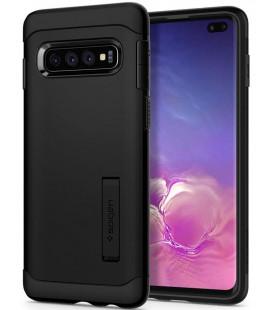 """Juodas dėklas Samsung Galaxy S10 Plus telefonui """"Spigen Slim Armor"""""""