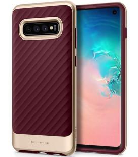 """Raudonas dėklas Samsung Galaxy S10 telefonui """"Spigen Neo Hybrid"""""""