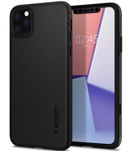 "Juodas dėklas Apple iPhone 11 Pro Max telefonui ""Spigen Thin Fit Classic"""