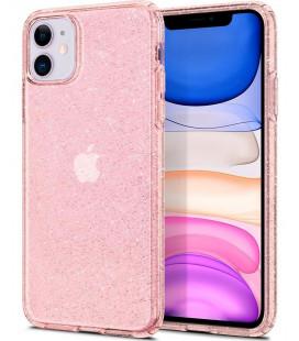 "Rožinis dėklas su blizgučiais Apple iPhone 11 telefonui ""Spigen Liquid Crystal Glitter"""