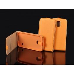"""Oranžinis atverčiamas dėklas Apple iPhone 6/6s telefonui """"Telone Vertical POCKET"""""""