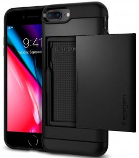 """Juodas dėklas Apple iPhone 7 Plus / 8 Plus telefonui """"Spigen Slim Armor CS"""""""
