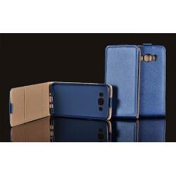 """Tamsiai mėlynas atverčiamas dėklas Huawei P9 Lite telefonui """"Telone Vertical POCKET"""""""